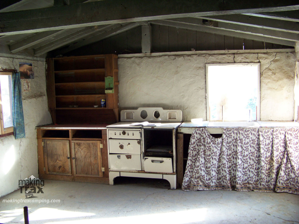 kitchen inside the Barker ranch house