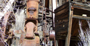 Old mine steam boiler