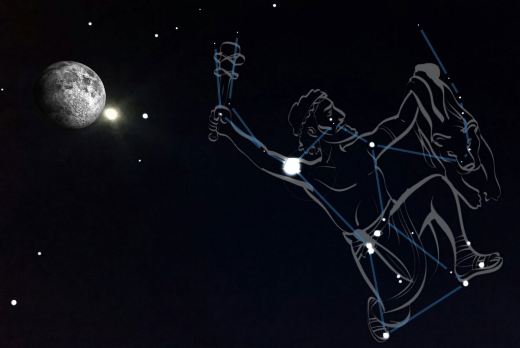 Orion in Sky View app