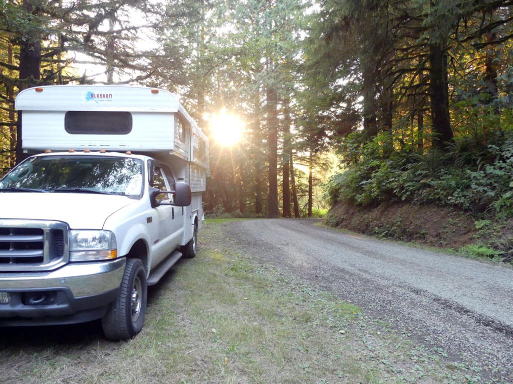 Truck camper in Oregon