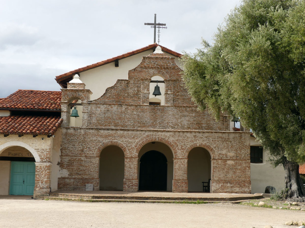 The church entry at Mission San Antonio