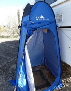 Tent shower