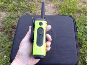 Motorola radio talk button