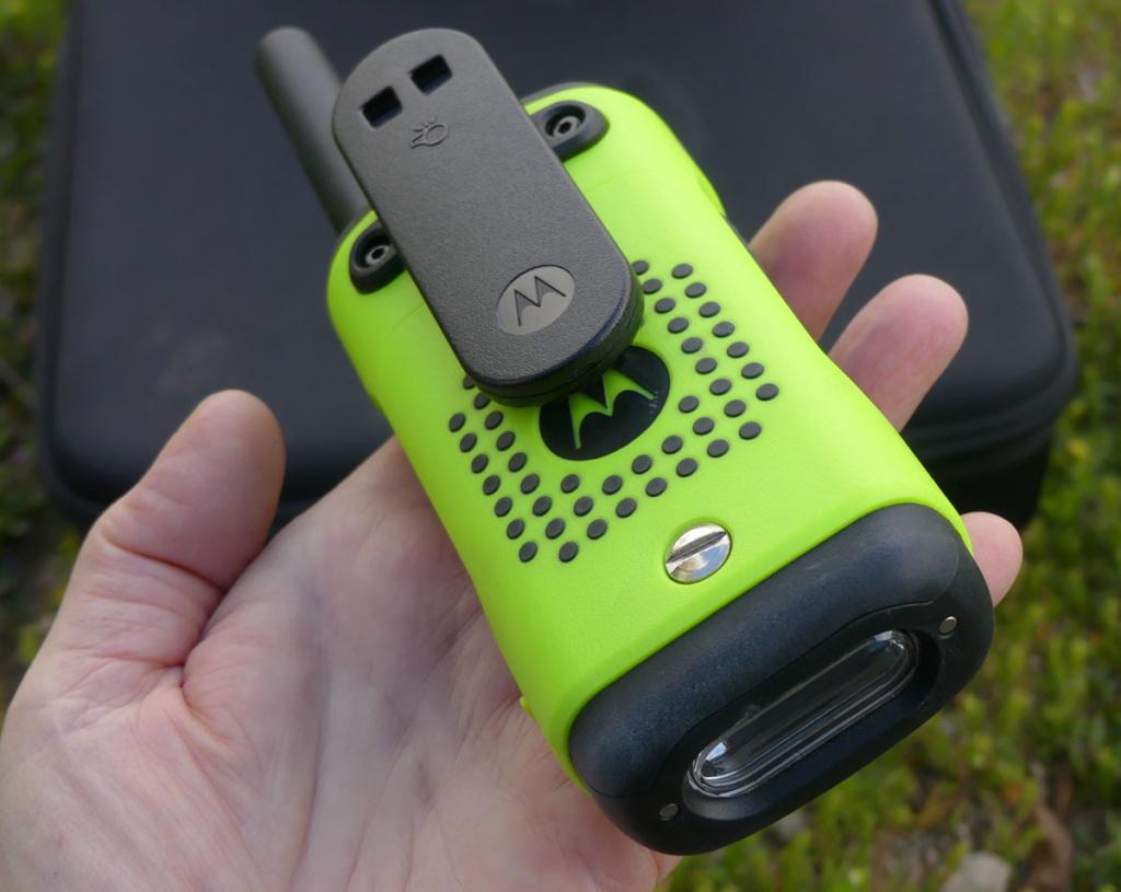 Motorola radio belt clip and flashlight
