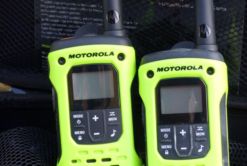 Motorola radios to talk where no cell reception