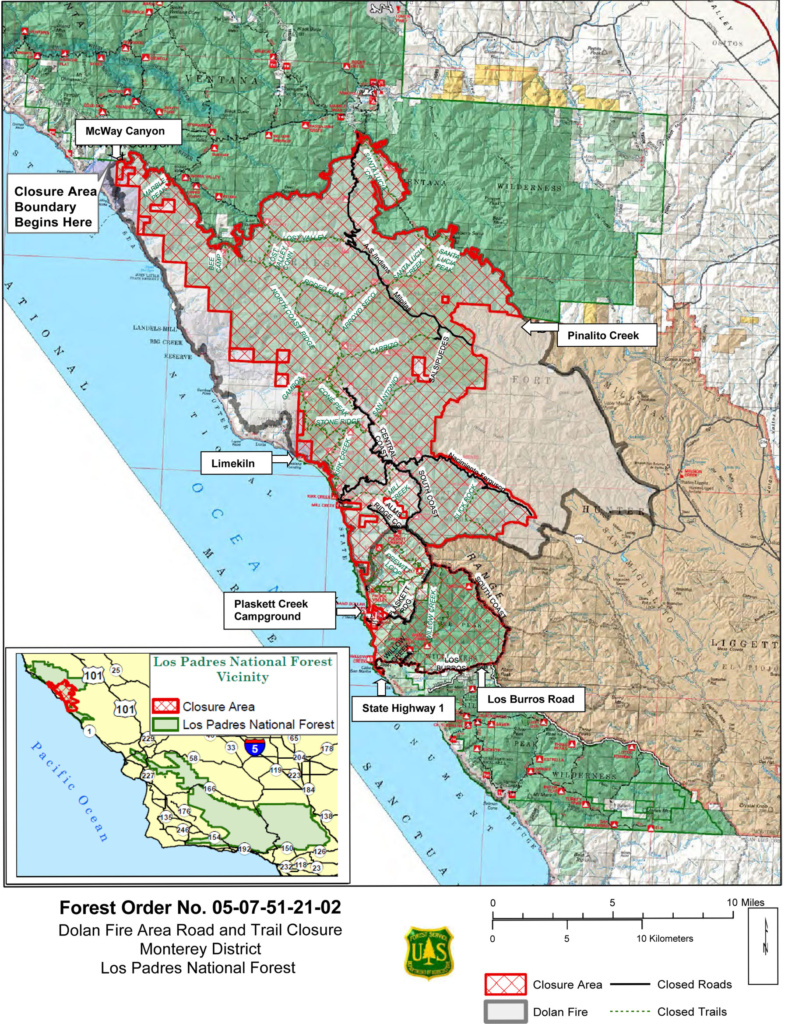 US Forestry Map Dolan Fire