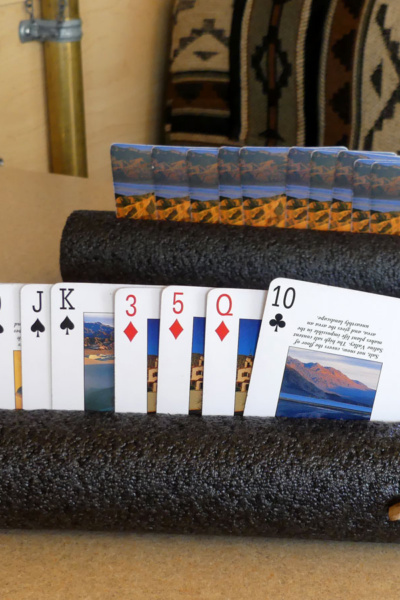 Easy to make holders for your hand of cards