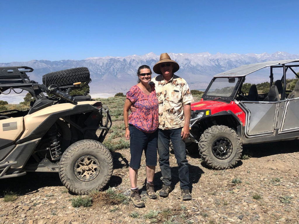 Ranger UTVs in the Inyo Mountains