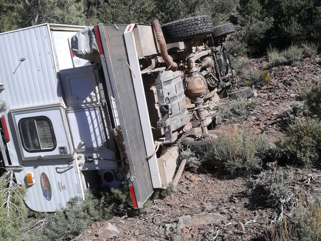 surviving a wrecked truck camper