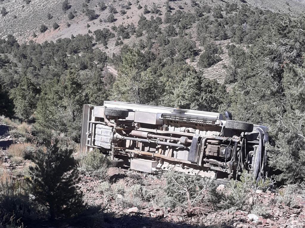 truck camper wreck