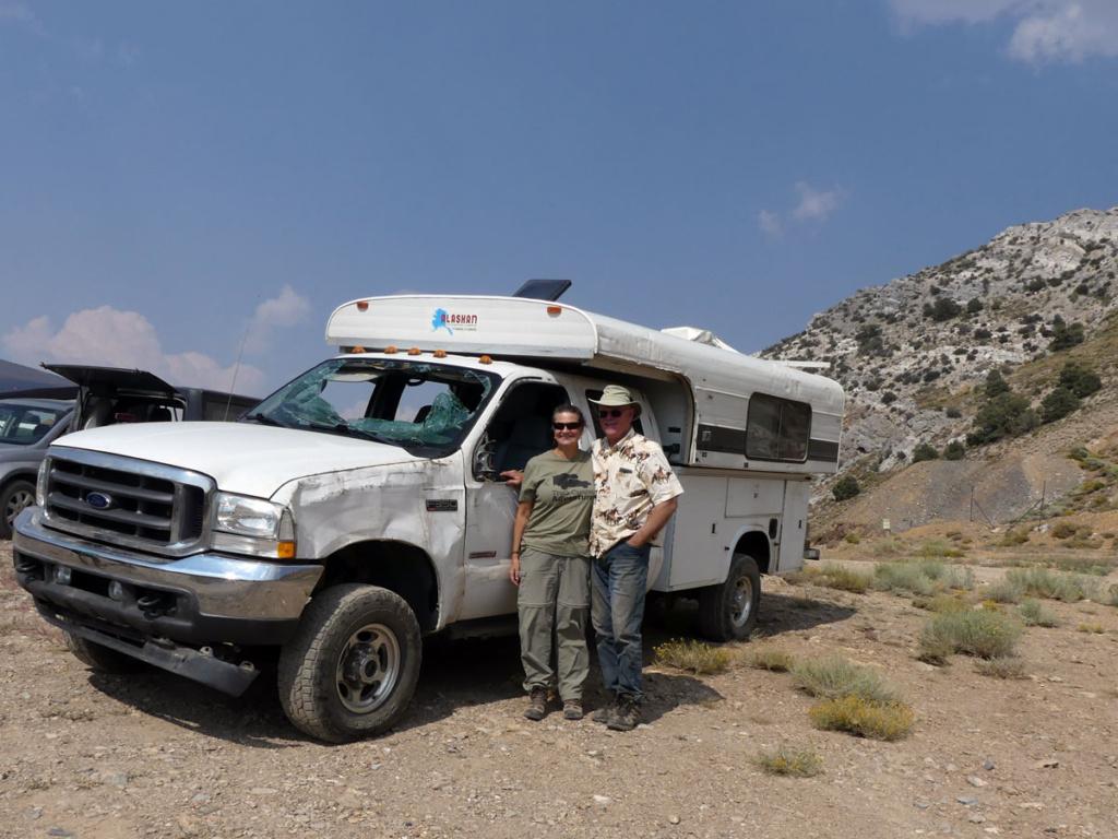 recovered truck camper