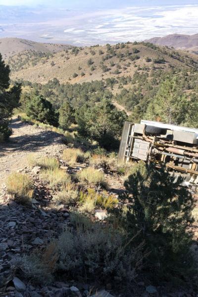 wrecked truck camper