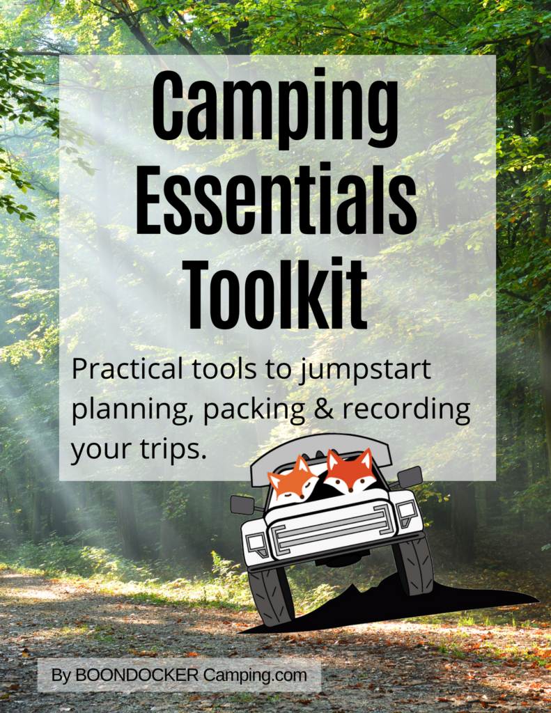 Camping Essentials Toolkit system