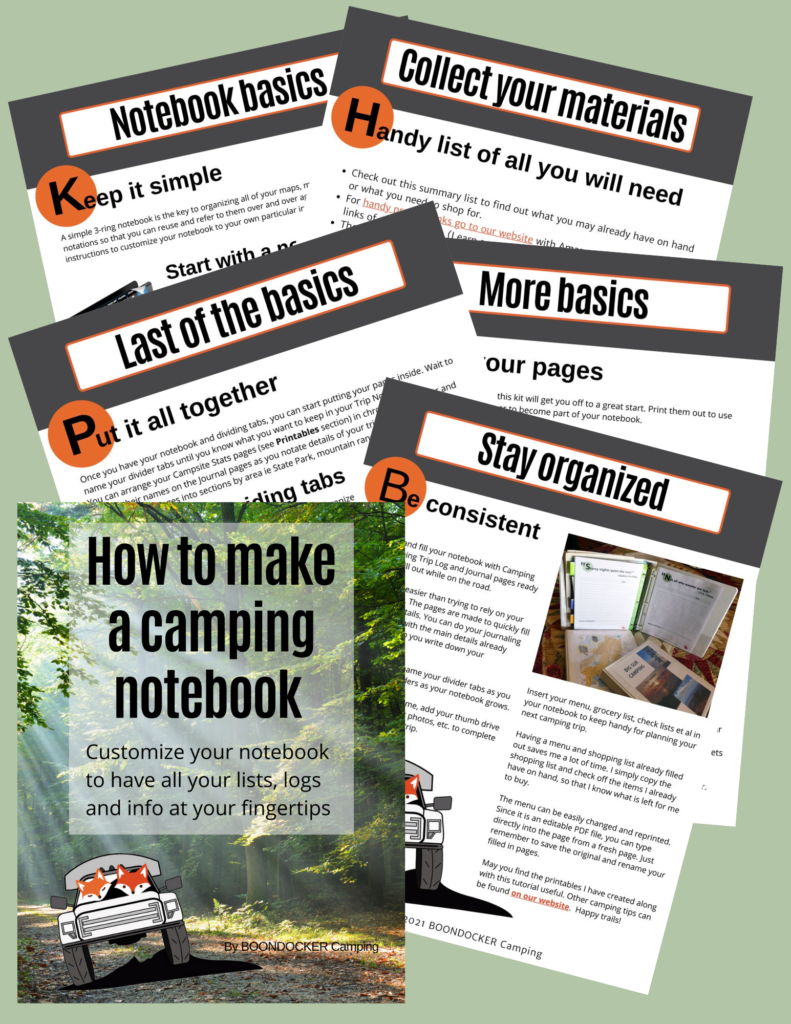 How to make camping notebook bundle